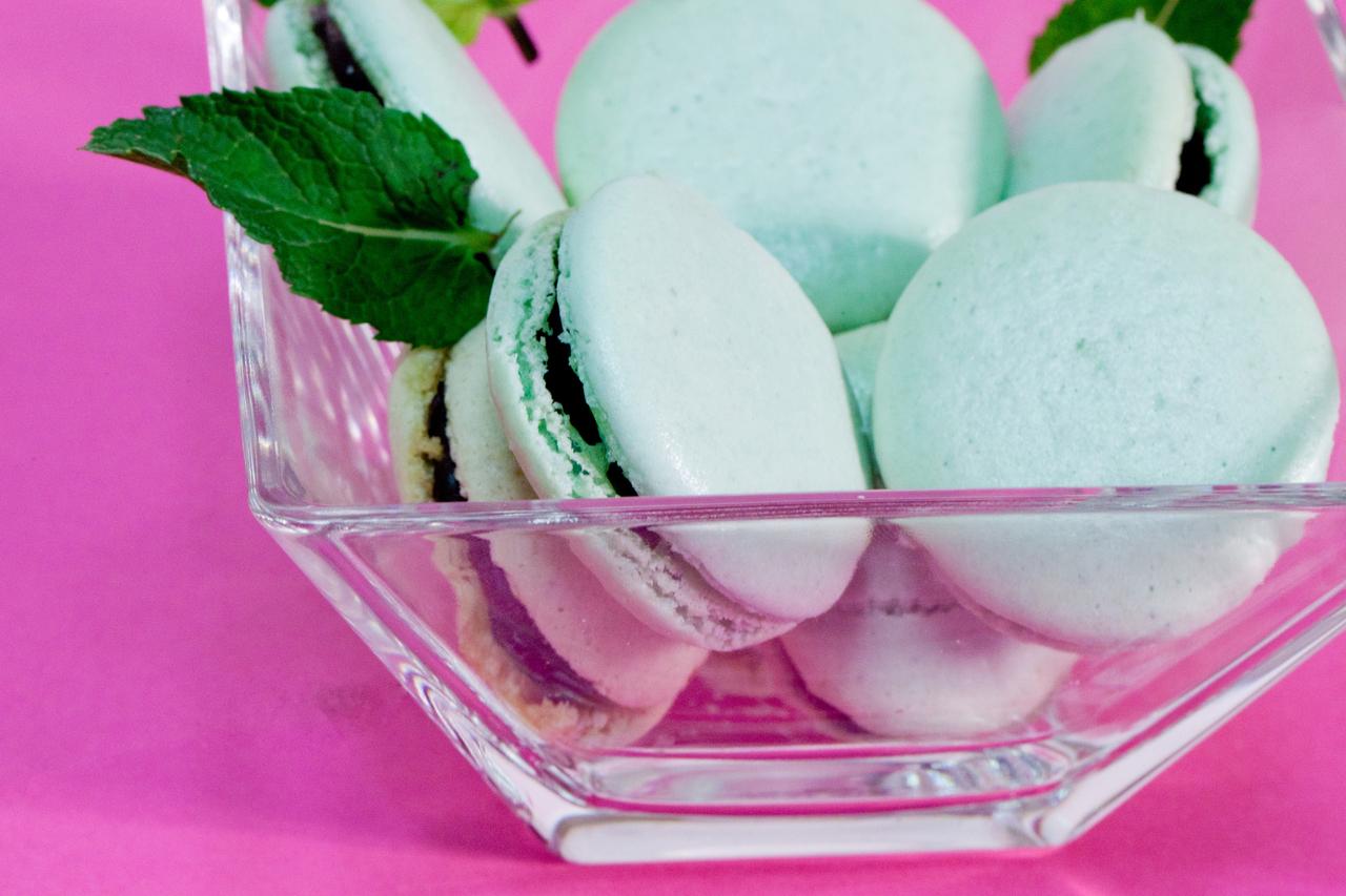 macaron menthe-chocolat
